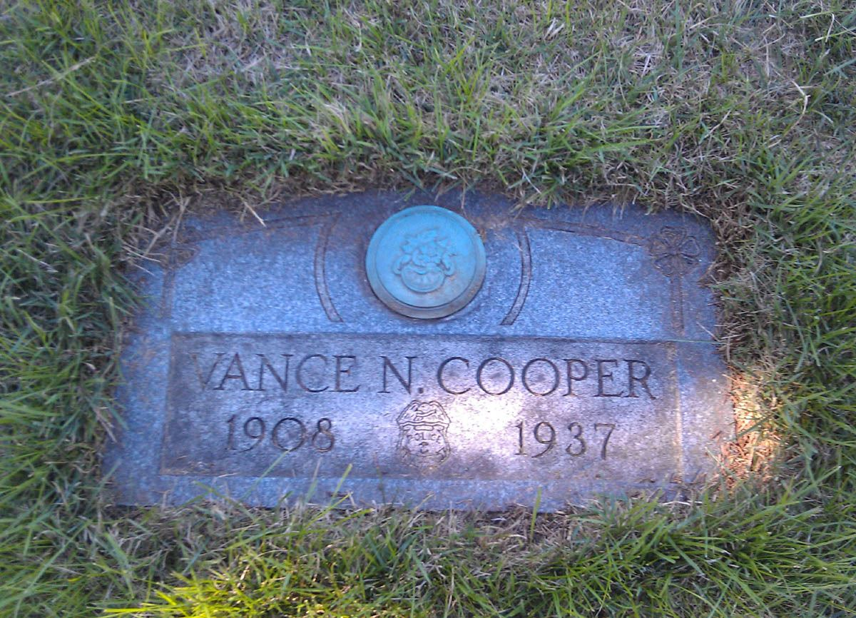 Vance Coopers Grave Marker