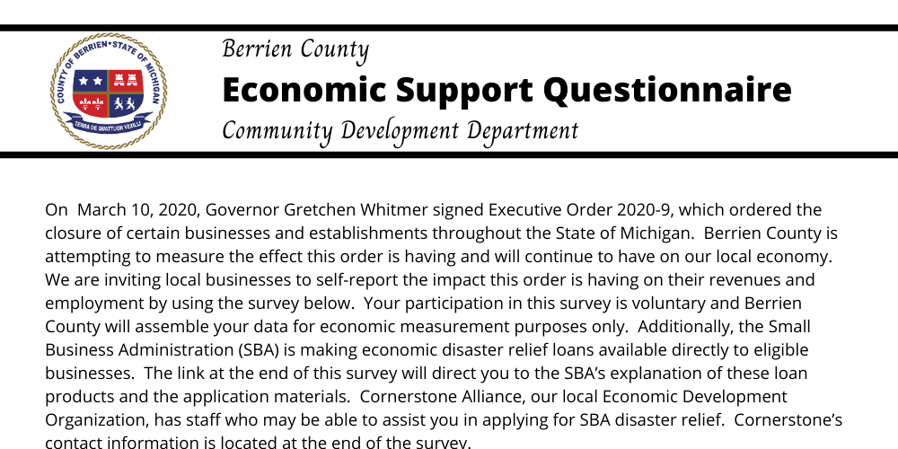 Berrien County Economic Support Banner